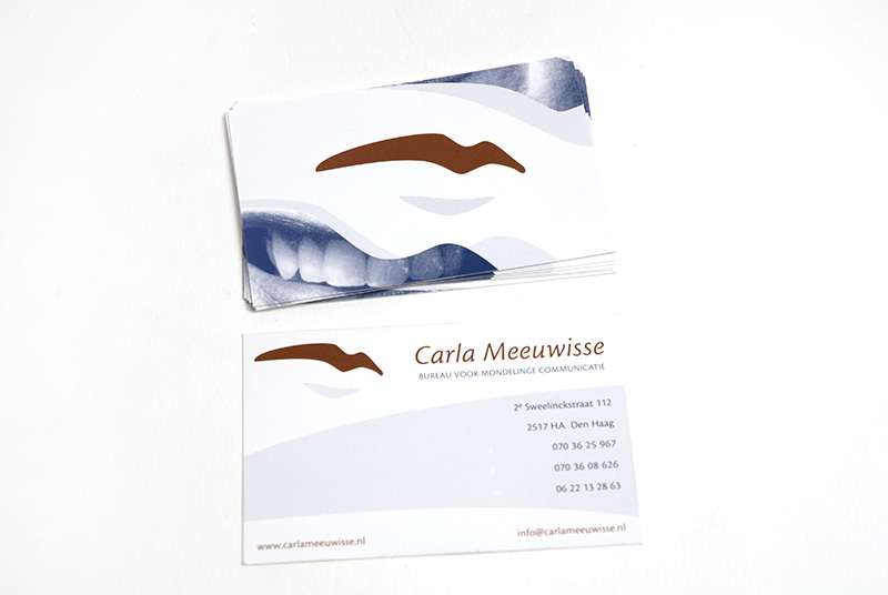 Carla Meeuwisse identiteit visitekaartje