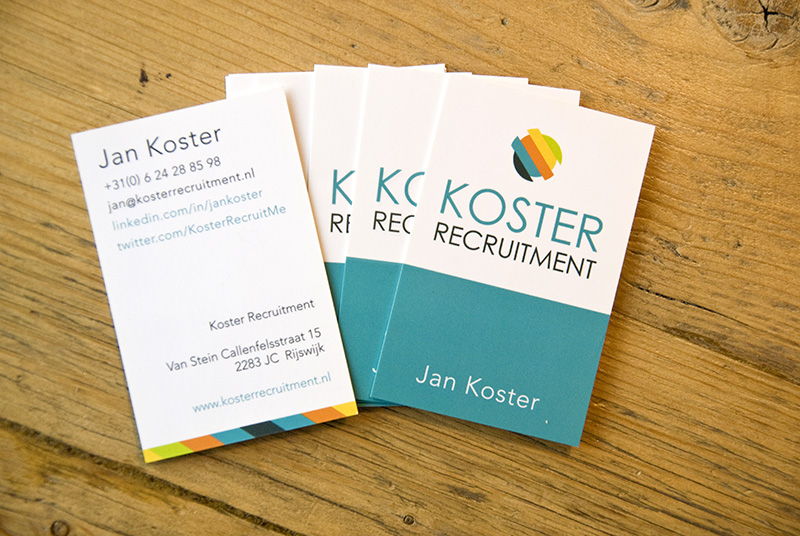 Koster Recruitment Identity Businesscards